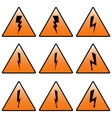 Triangular icons lightning vector image vector image