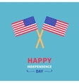 Two flags Happy independence day United states of vector image vector image