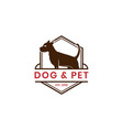 vintage dog and pet logo template vector image