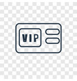 vip pass concept linear icon isolated on vector image vector image