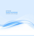 wavy blue lines abstract business background vector image