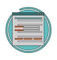website development language vector image vector image
