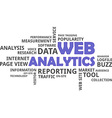 word cloud web analytics vector image vector image