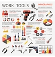 Work Tools Infographic vector image vector image
