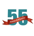 Fifty Five 55 Years Anniversary Label Sign for vector image