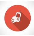 phone with sim card icon vector image