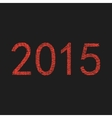 red 2015 year sketch vector image