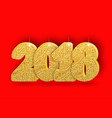 2018 gold numbers design signs for greeting card vector image