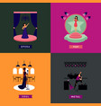 colorful singing people concept vector image