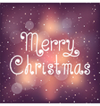 Bright Christmas card with snow vector image