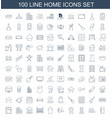 100 home icons vector image vector image