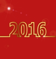 2016 Happy New Year on red background vector image vector image