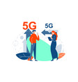 5g connection modern communication concept vector image vector image