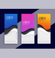 abstract different color modern wave vertical vector image vector image