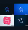 add to shopping cart line icon online buying vector image vector image