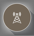 antenna sign white icon on vector image vector image