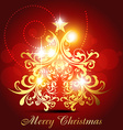 artistic christmas design vector image vector image