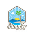 beach time tropical island summer vacation vector image