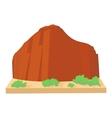 Brazil mountain icon cartoon style vector image vector image