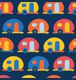 camping caravans seamless pattern retro vector image vector image
