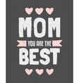 Chalkboard design greeting card for Mothers day vector image vector image
