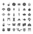 china solid web icons vector image vector image