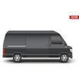 classic vip service white minibus vector image