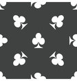 Clubs pattern vector image vector image