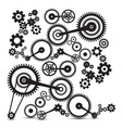 cogs gears retro machinery symbol vector image vector image