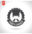 color flar chef icon vector image vector image