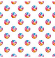 colorful circle divided into eight parts pattern vector image vector image