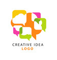 creative idea logo template with abstract colorful vector image vector image