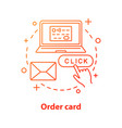 Credit card ordering concept icon