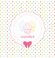 Cupcake polka dot background