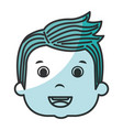cute boy head avatar character vector image