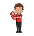 dad with baby in arms vector image vector image