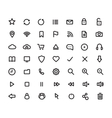 Digital multimedia thick line icons set vector image vector image