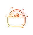 egg easter eggbasket icon design vector image