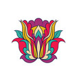 floral linear pattern colorful indian ornament vector image