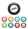 free sign icons set vector image vector image