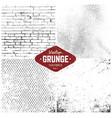 grunge textures set vector image vector image