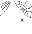 halloween spider sign with web 109 vector image vector image