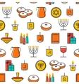 Hanukkah seamless pattern Hanukkah symbols vector image vector image
