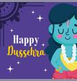 happy dussehra festival india cartoon lord vector image vector image