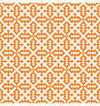 hmong pattern seamless texture background orange vector image vector image