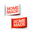homemade white and red labels vector image vector image
