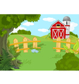 Idyllic farm landscape vector image