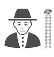 Jew Icon With Bonus vector image vector image