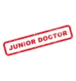 Junior Doctor Text Rubber Stamp vector image vector image