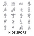 kids sport play children sports football vector image vector image
